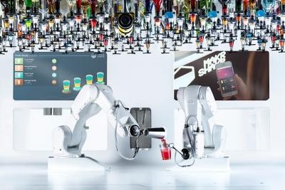 Toni: el primer robot barman, capaz de servir 180 bedidas por hora